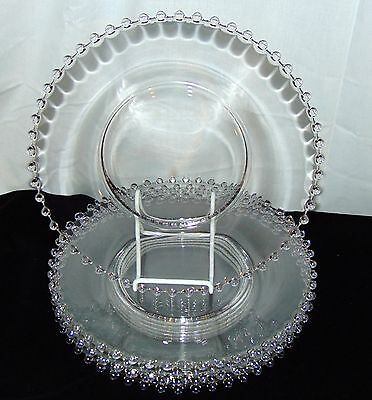 """6 Imperial CANDLEWICK CRYSTAL*10"""" DINNER PLATES * #400/100*"""
