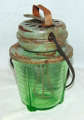 VINTAGE * Vidrio DEPRESSION GREEN *2 CUP ELECTRIC MIXER* WORKS*