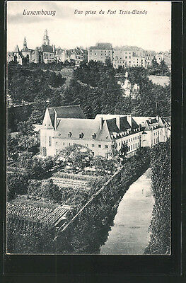 formidable CPA Luxembourg, Vue prise du Fort Trois-Glands 1909