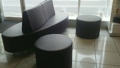 salon sofa with two extra seats