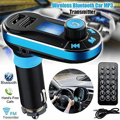 New Wireless FM Radio Transmitter Bluetooth Car Kit MP3 Player Dual USB Charger