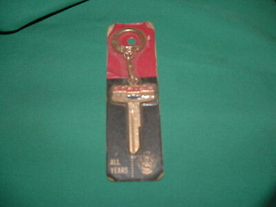 Old vintage NOS keychain  blank for Chevrolet Corvair all years automobile truck