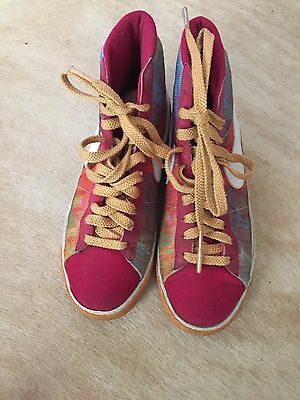 Nike Women's Multicolor Canvas High Top Sneakers Size 8