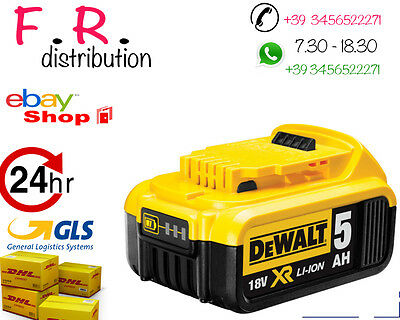 BATTERIA  DeWalt DCB184 18v XR Li-Ion 5.0ah Battery Pack NegozioUfficialeDEWALT