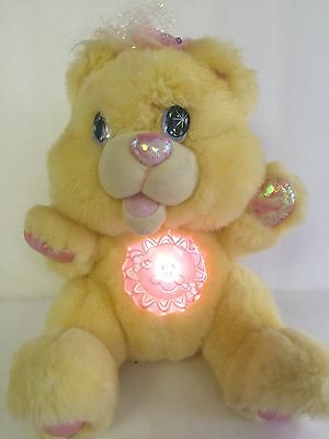 Rare Twinkle Bear Plush Yellow Bear Vintage 1995 Fantasy Ltd Light Up Tummy