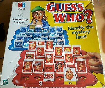 Guess Who Vintage Classic Board Game 1996 Edition MB Games Boxed