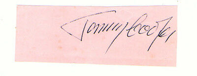 Tommy Cooper. Magician And Comedian Hand Signed Autograph