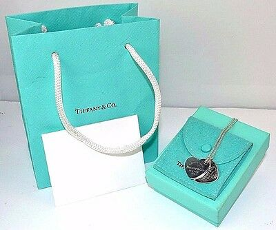 Tiffany & Co Return to Tiffany Sterling Silver Double Heart Necklace  J188