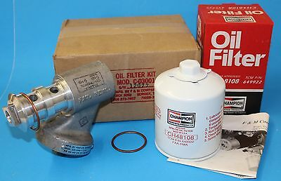 New Oil Filter Assembly, Continental C125, C145 and the O-300, Sealed C-03001