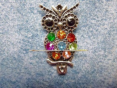 SPECIAL OFFER Jewelled Owl Needle Minder Cross Stitch