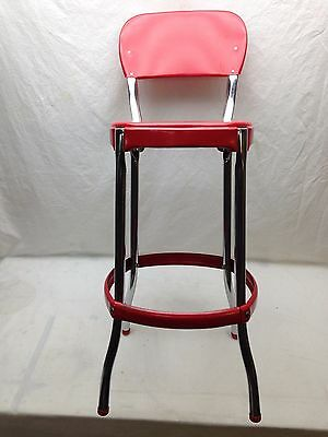 Phenomenal Vintage Cosco Kitchen Stool Red Seat Back Chrome Midcentury Pabps2019 Chair Design Images Pabps2019Com