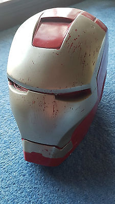 1/1 life size bust Marvel Iron Man film prop helmet Robert Downey Jr full