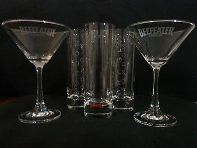 Beefeater London Martini Glasses and 1820 Beefeater London Dry Gin Glasses