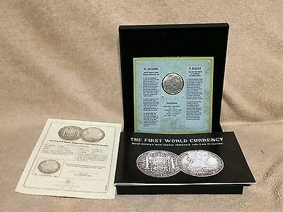 Silver 8 Reales Shipwreck coin from El Cazador with COA