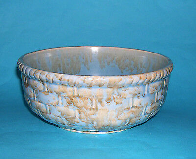 Shorter & Son Art Pottery - Attractive Basket Weave Pattern Duo Colour Bowl.