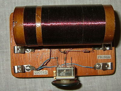 Vintage Tapped Coil Crystal Set, Radio-TV Experimenter 1952, Allied Radio Corp.