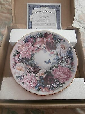 Bradford Exchange Floral Greetings Circle Of Love   Lena Liu Boxed With Cert
