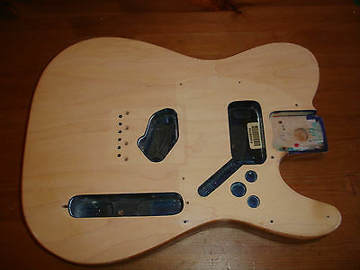 Mexican Telecaster body plus all fittings, stripped.
