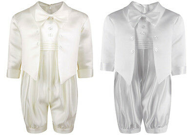 Baby Boys Suit Ivory White Pager Romper Christening Wedding Suit Set 0-18M CR03