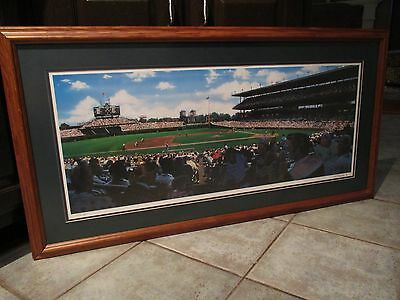 Signed Artist Print of Wrigley Field - Framed