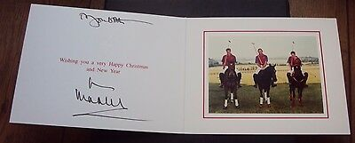 Horse Polo Original Genuine Hand Signed Christmas Card By Prince Charles