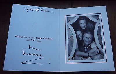 1996 Original Genuine Hand Signed Christmas Card By Prince Charles With Envelope