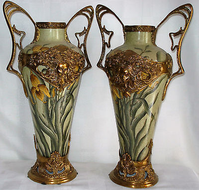 Pair Of Art Nouveau Porcelain Vases