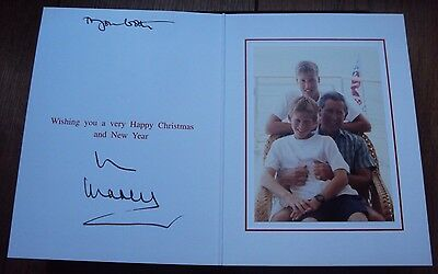 1998 Original Genuine Hand Signed Christmas Card By Prince Charles