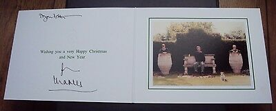 1995 Original Genuine Hand Signed Christmas Card By Prince Charles With Envelope