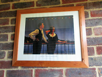 JACK VETTRIANO FRAMED PRINT - MIDNIGHT BLUE - Collection Only -