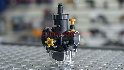 GY6 Scooter/Vento 150cc engine OKO 30mm Clear Bowl Carburetor Combo