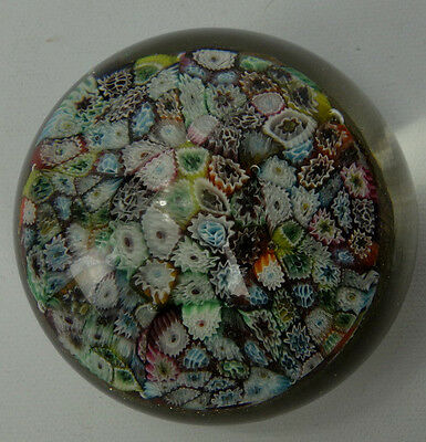 Vintage Murano Millefiore Art Glass Paperweight Italy