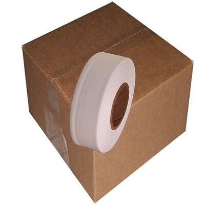 White 12 Rolls Flagging Marking Tape 1 3/16 in x 300 ft Non-Adhesive