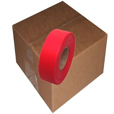 Red 12 Rolls Flagging Marking Tape 1 3/16 in x 300 ft Non-Adhesive