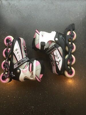 Vortex Adjustable Inline Skates in Pink