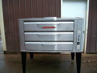Blodgett 981 Natural Deck Gas Double Pizza Oven With Brand New Stones Stainless