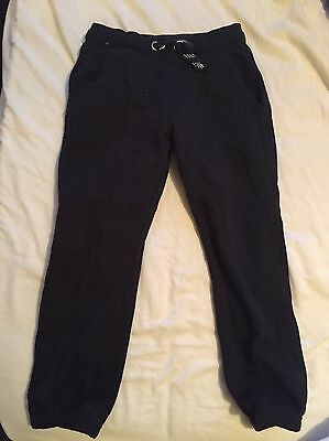 Unisex Black Jogging Bottoms Trousers Age 5-6 Years