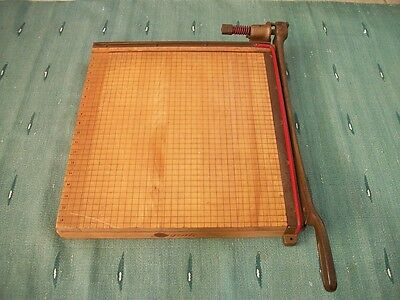 """INGENTO COMMERCIAL HEAVY DUTY 18"""" x 18"""" MAPLE GUILLOTINE PAPER CUTTER TRIMMER"""