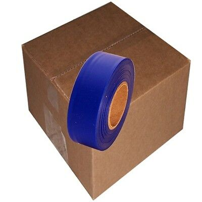 Blue 12 Rolls Flagging Marking Tape 1 3/16 in x 300 ft Non-Adhesive