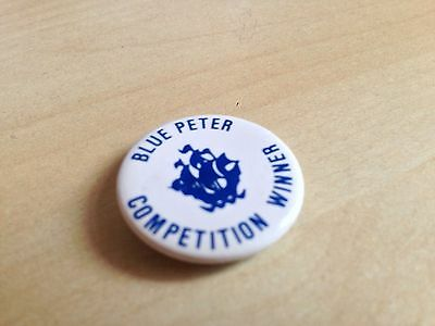 Authentic Blue Peter Competition Winner Badge - Early 1990s - Vintage