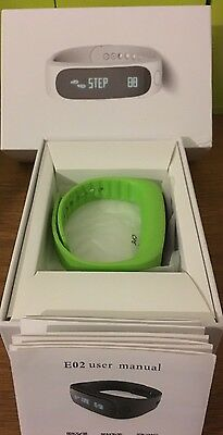 Green Watch With Pedometer, Bluetooth,