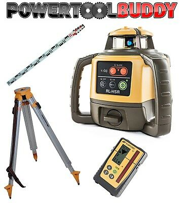 Topcon RL-H4C Laser Level with LS-100D mm Digital Receiver Nedo Tripod + Staff