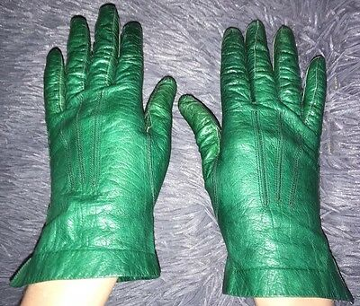 Vintage French Leather Gloves Perrin Small Ladies 1950s/1960s