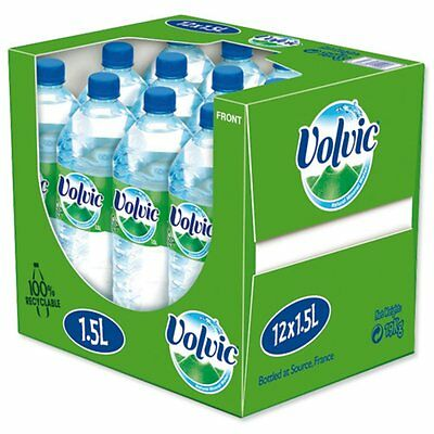Volvic Natural Mineral Water Still Bottle Plastic 1.5 Litre Pack of 12