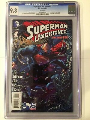 Superman Unchained #1 Jim Lee & Scott Snyder Cgc 9.8