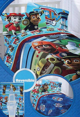 8Pc Twin Paw Patrol Bedding Set Comforter Sheets Curtains Drapes Single New Kids