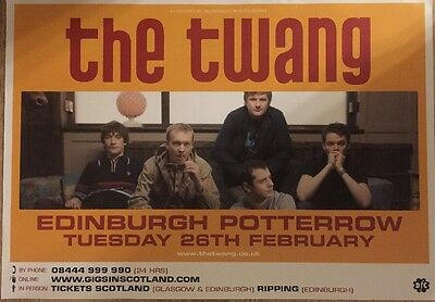 The Twang - Rare Gig poster, Edinburgh, February 2008
