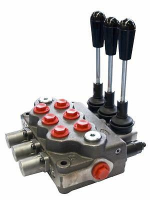 """Hydraulic Distributor 3 Three Levers Lever Double Effect 3/8 """"40 Lt"""