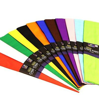 50CM X 3M CREPE PAPER, RANGE OF COLOURS, IDEAL FOR ARTS & CRAFTS - AS LOW AS 99p