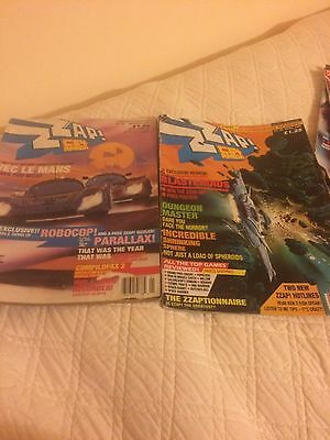 Zzap 64 Magazine 2 X Issues 45 January Le Mans & 48 April Blasteriods 1988
